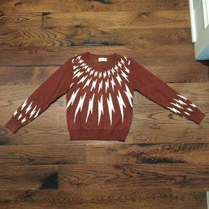 LILI Molly Sidonio lightening sweater EUC sparks s